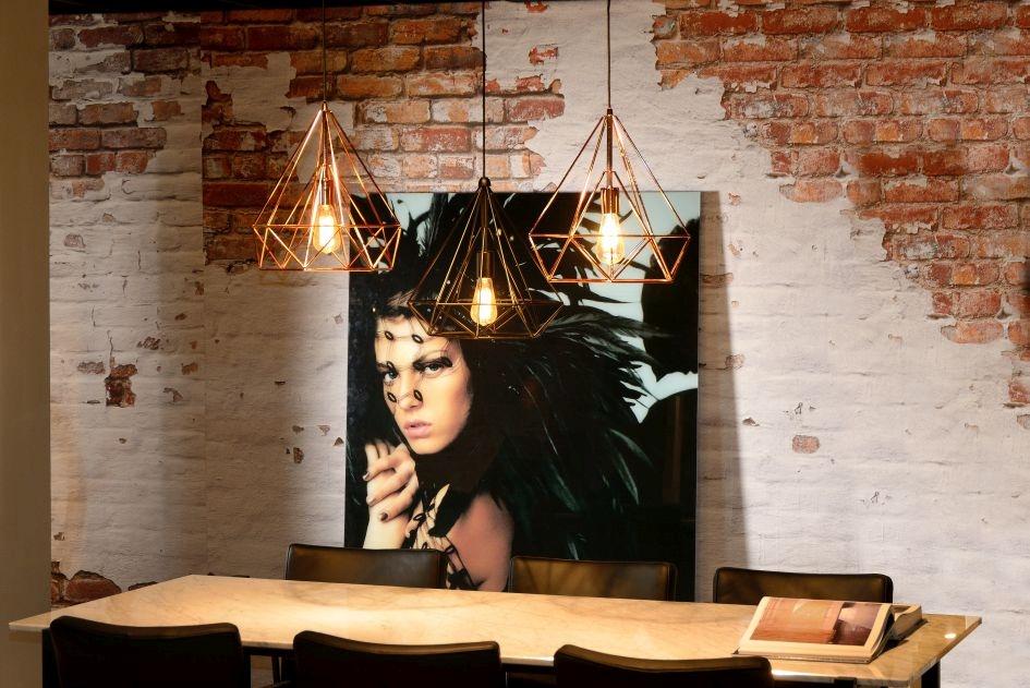 Lucide Hanglamp Ricky -Ø36.5 Cm - H39 Cm - Koper