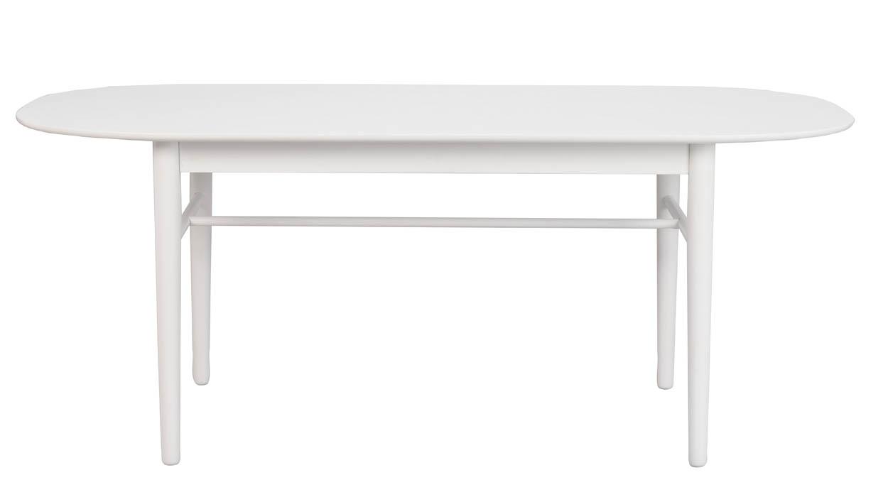 Rowico Akita Ovale Eettafel - Wit Tafelblad - L190 X B90 X H76 Cm