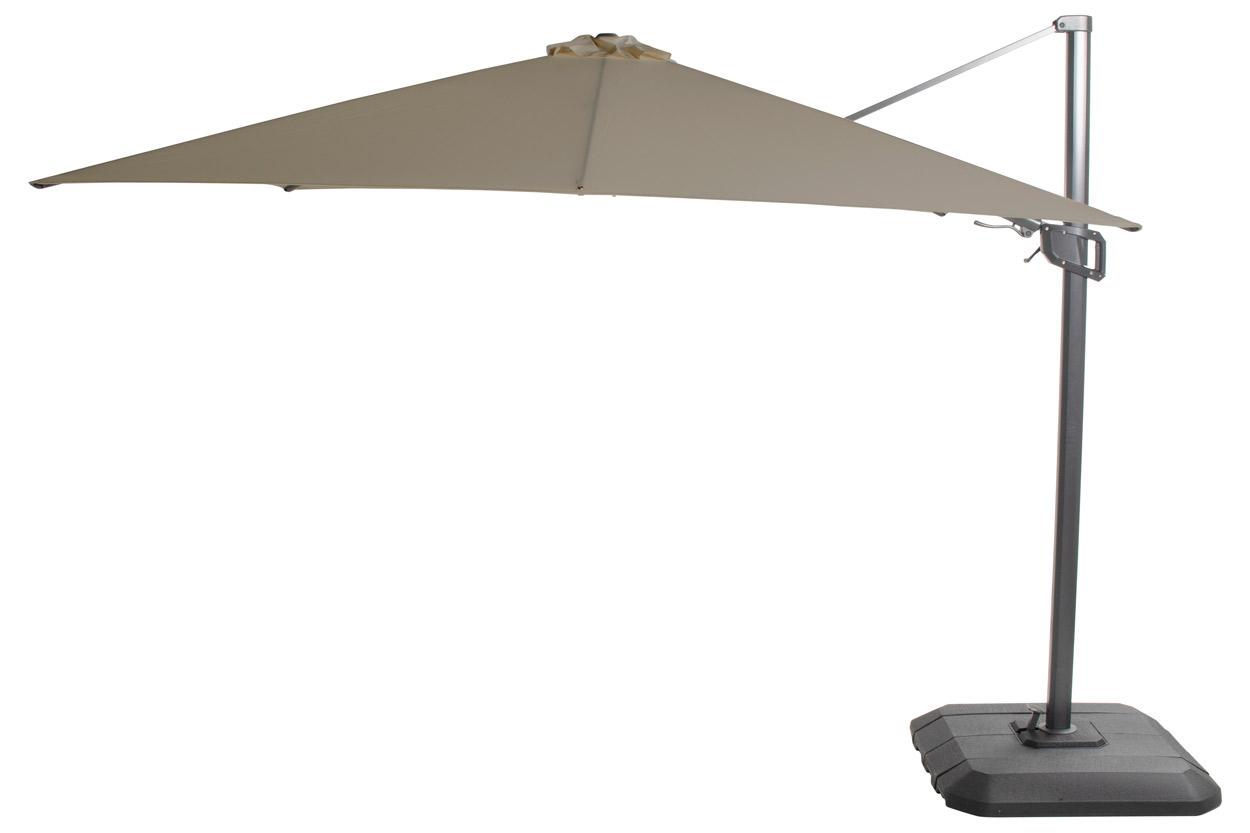 Hartman Shadowflex Deluxe Parasol? 400 X 400 Cm ? Kantelbaar ? Olijf Groen