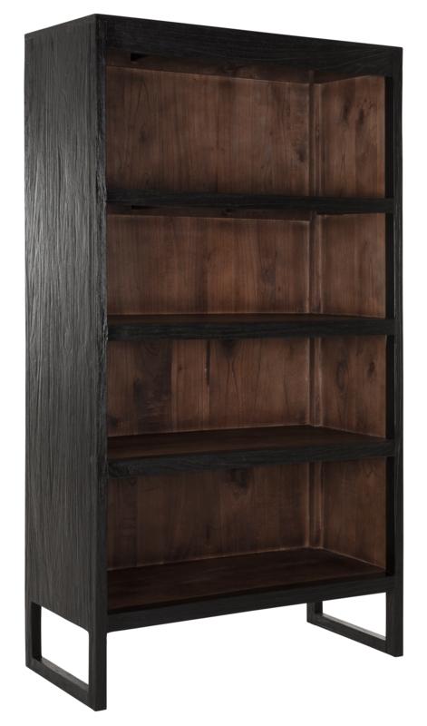 24Designs Black Jack Boekenkast Large - 105x48x185 - Mindi Hout Zwart