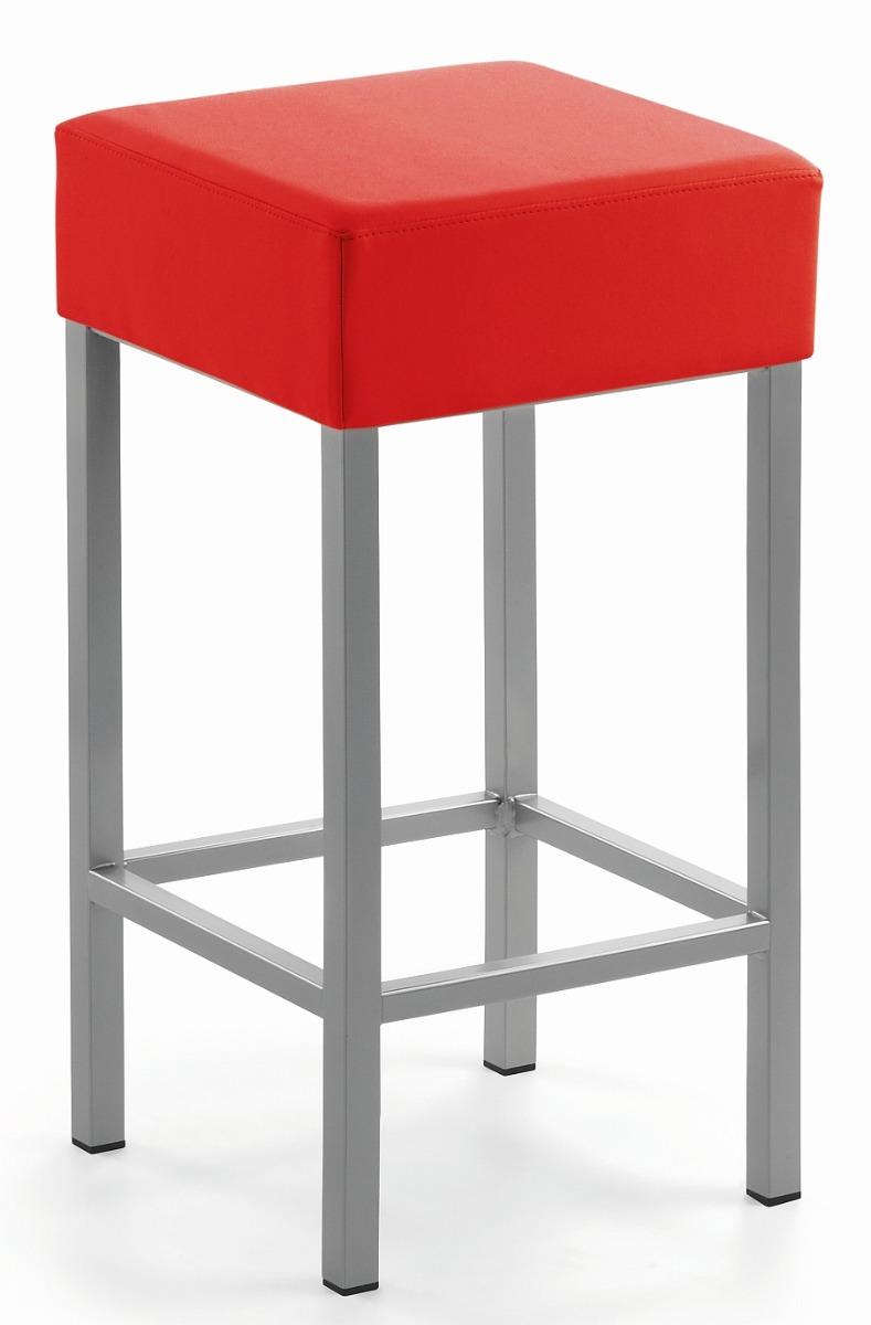 24Designs Barkruk Russel - Zithoogte 64 Cm - Rood Kunstleer
