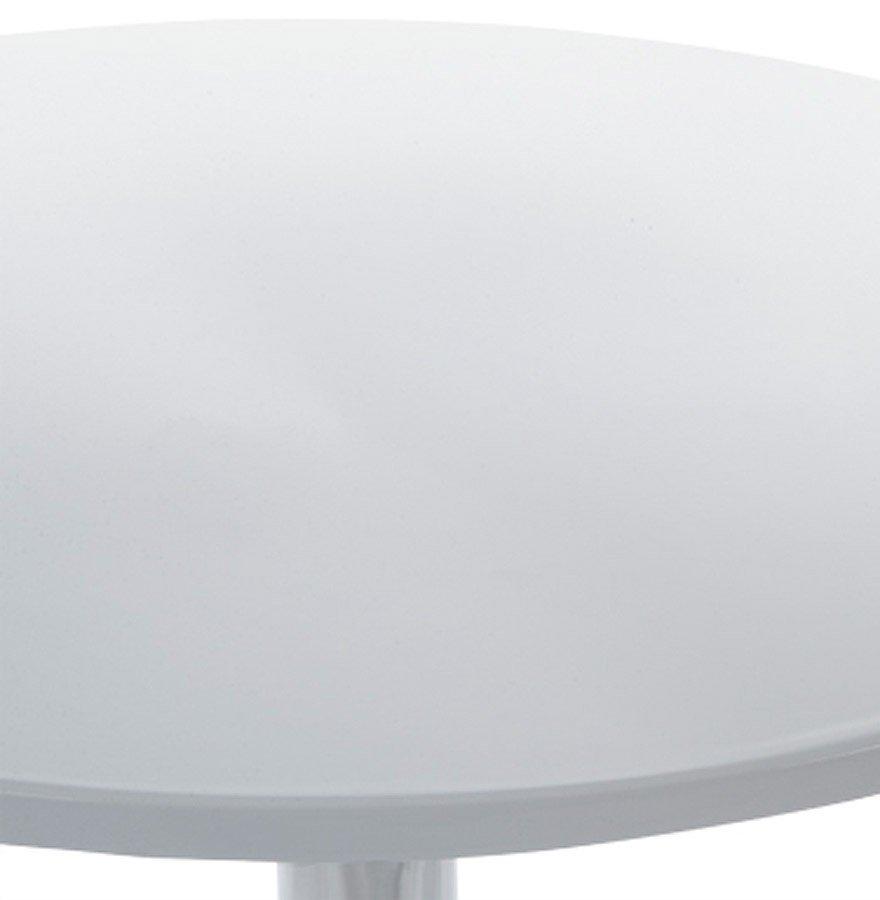 24Designs Bijzettafel Popa - Wit Kunststof Tafelblad - Chromen Onderstel