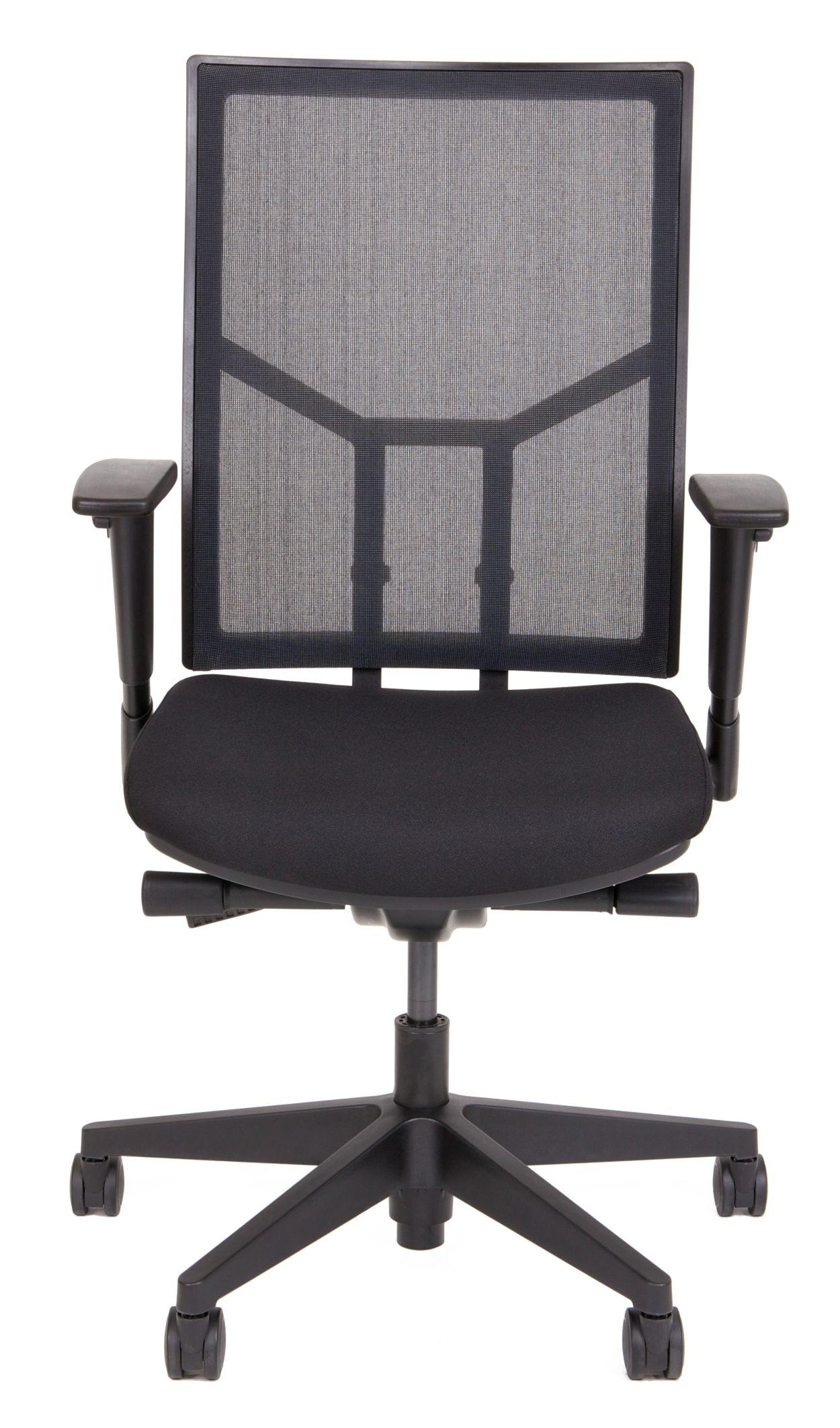 24Designs Bureaustoel Office Elwood - Netwave - Stof - Zwart