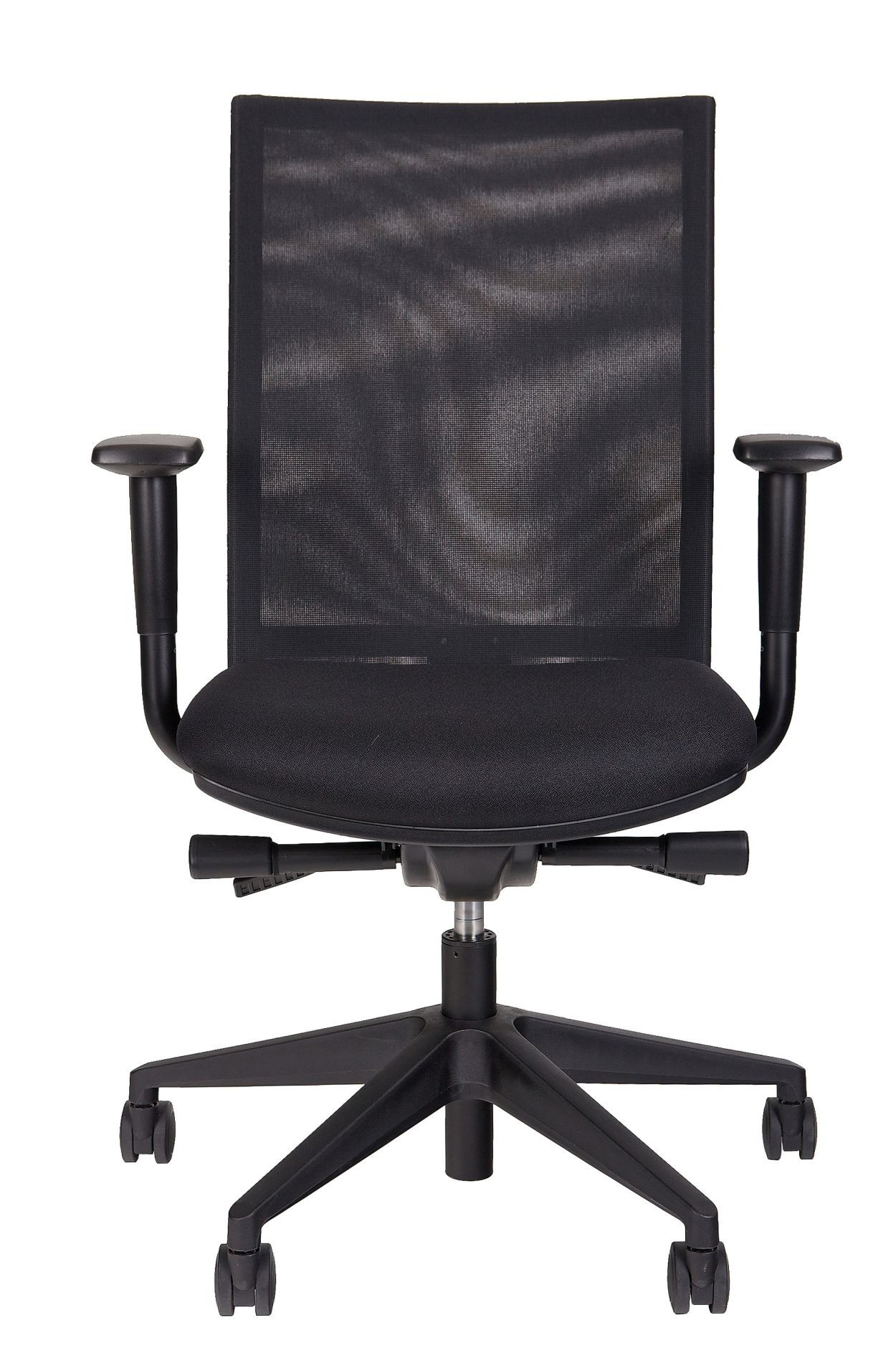 24Designs Bureaustoel Office Dallas - Stof - Zwart