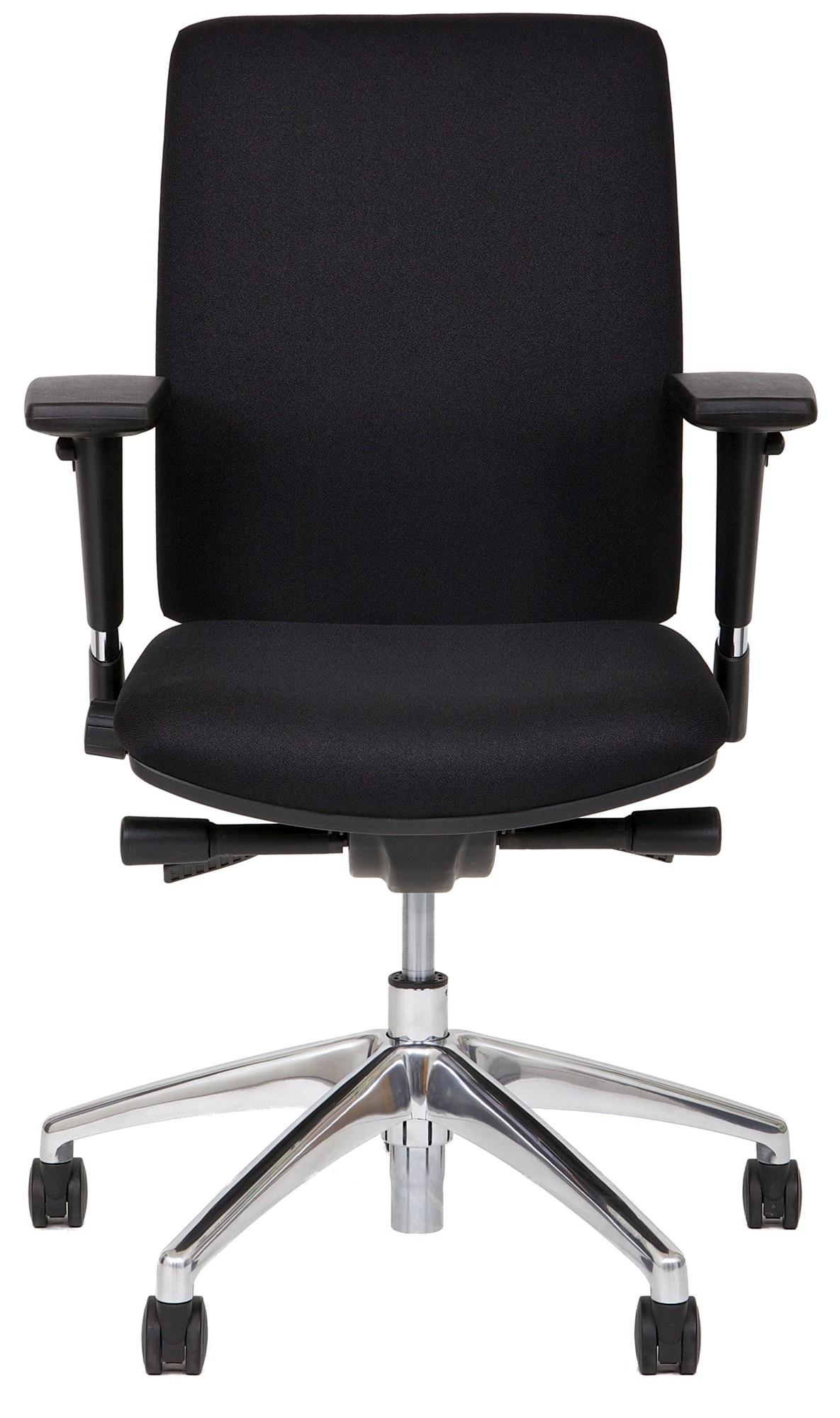 24Designs Bureaustoel Business Newport - Stof Zwart