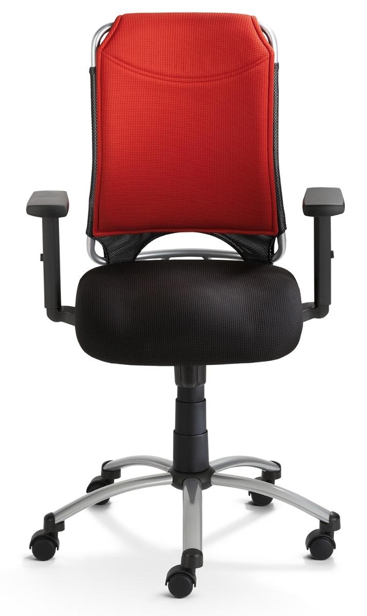 24Designs Bureaustoel Chicago - Rood/Zwart