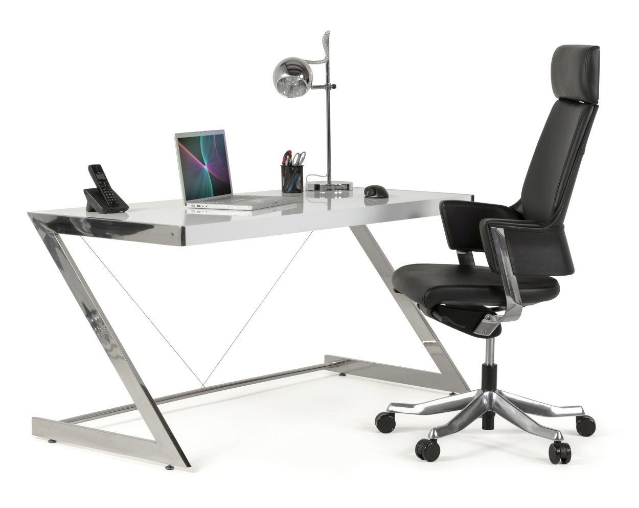 24Designs Bureaustoel Lido - Hoofdsteun - Leer Zwart