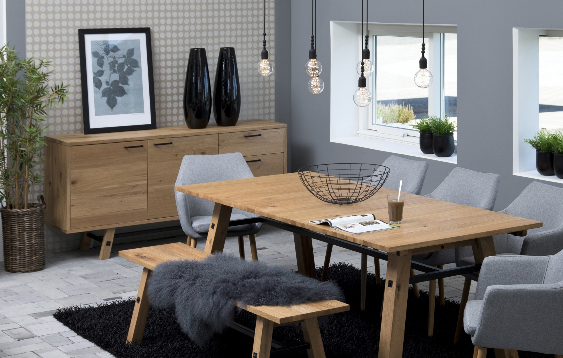 24Designs Dressoir Kopenhagen - 180x44x85 - Eiken