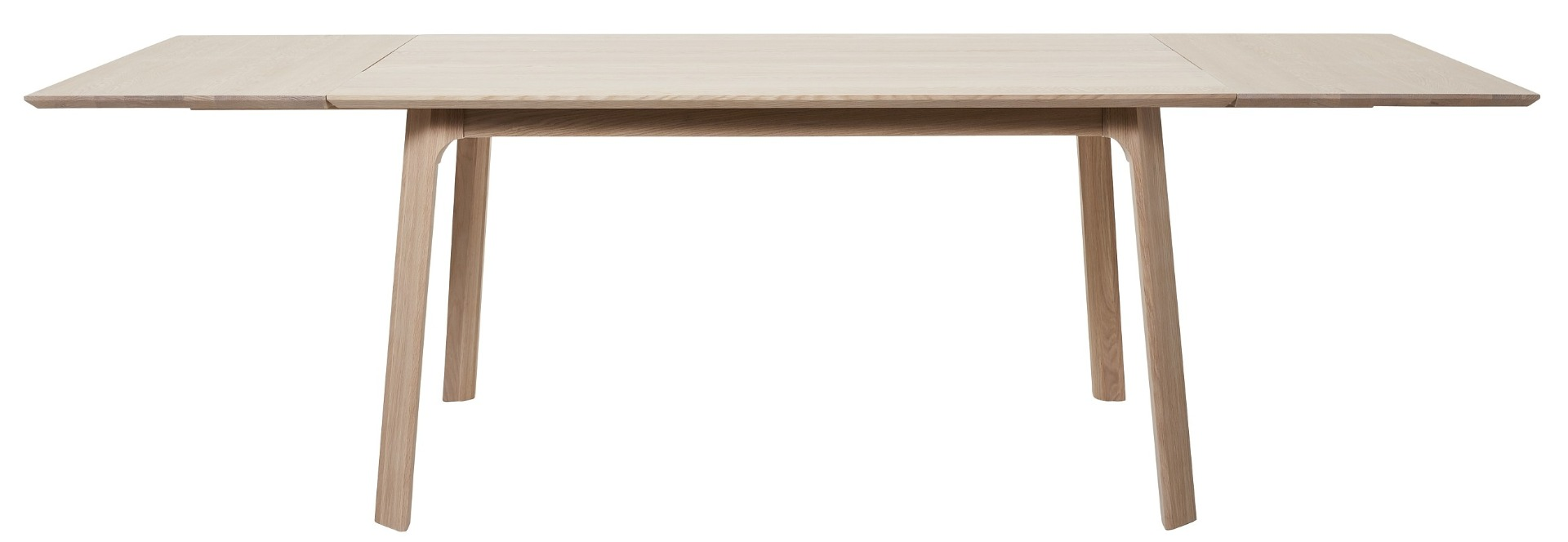 24Designs Haslund Verlengbare Eettafel - 150/250x95x75 - Eiken + 2 Aanlegbladen