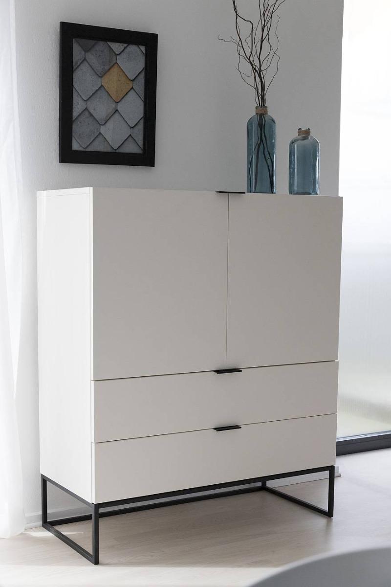 24Designs Wandkast Onni 2-Laden - 2-Deurs - 100x45x120 - Wit