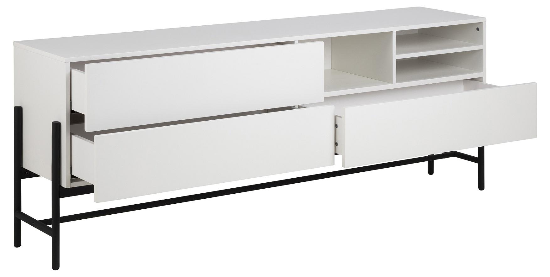 24Designs Norway Dressoir 3-Laden/3-Vaks - 185x42x70 - Wit