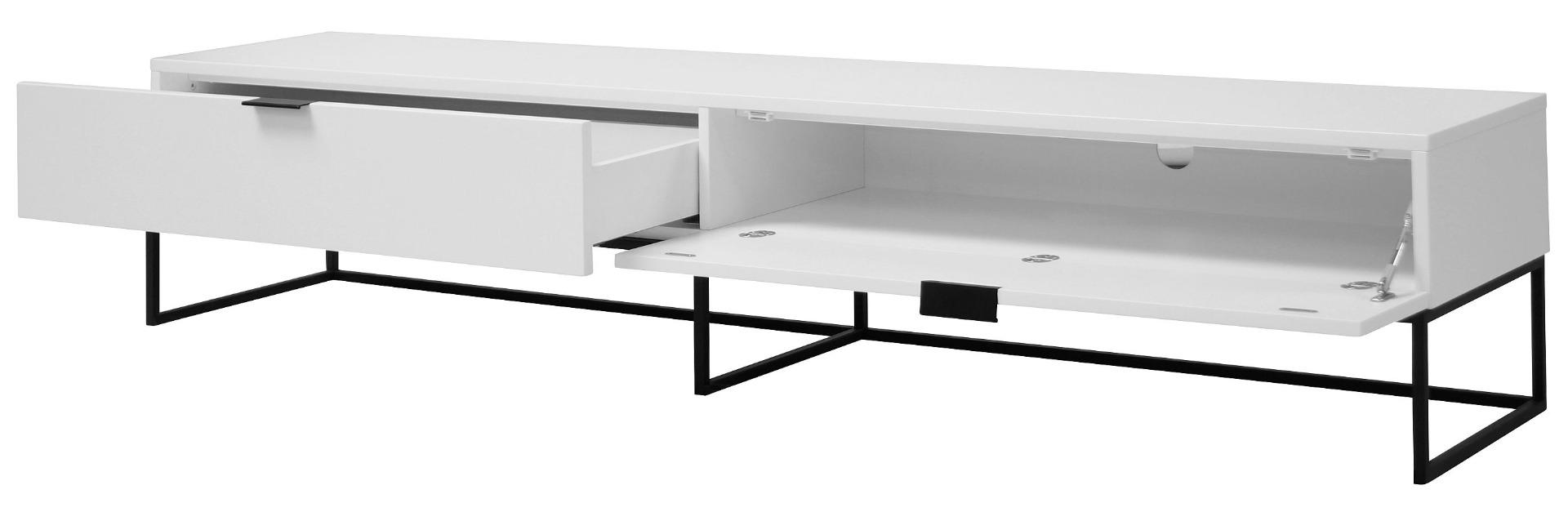 24Designs Onni TV-meubel 1-Lade + 1 Klepdeur - 200x40x40 - Wit