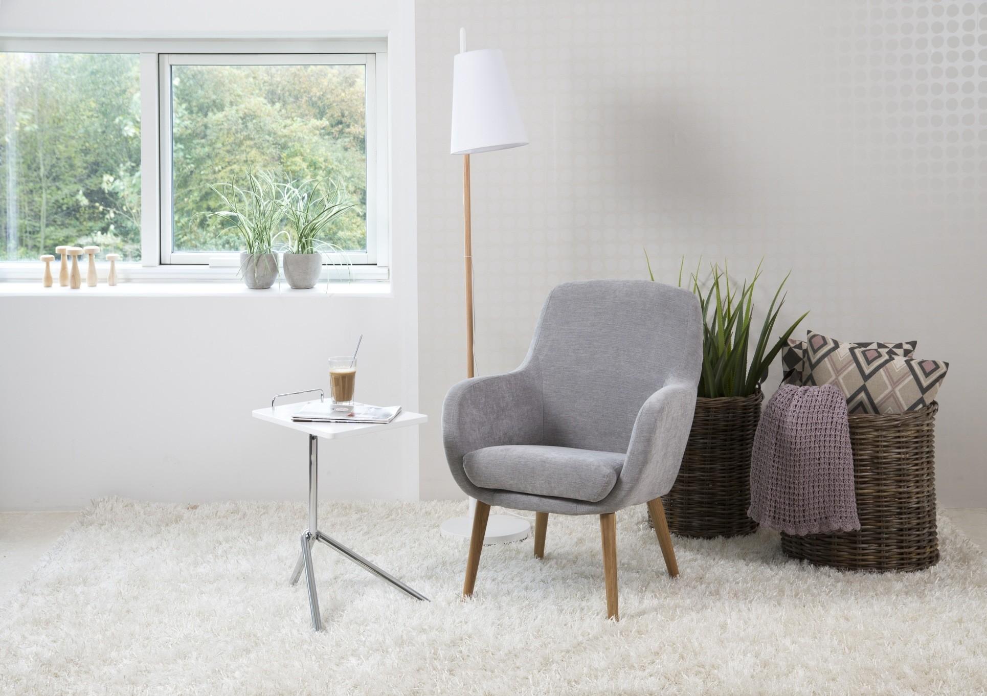 24Designs Relax Fauteuil - Sandy - Stof - Lichtgrijs