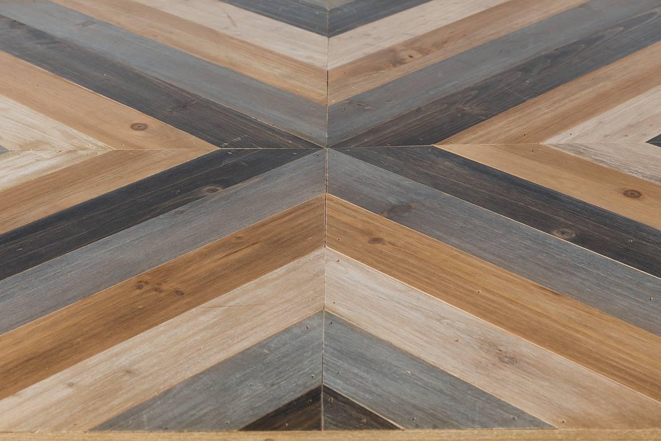 24Designs Salontafel Joy 81x81x32 - Houten Tafelblad - Metalen Onderstel