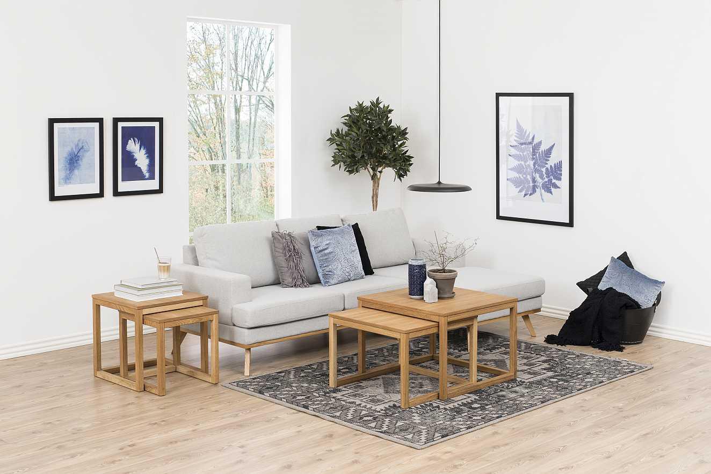 24Designs Woodie Salontafel Set - 50x50x50 - Eiken