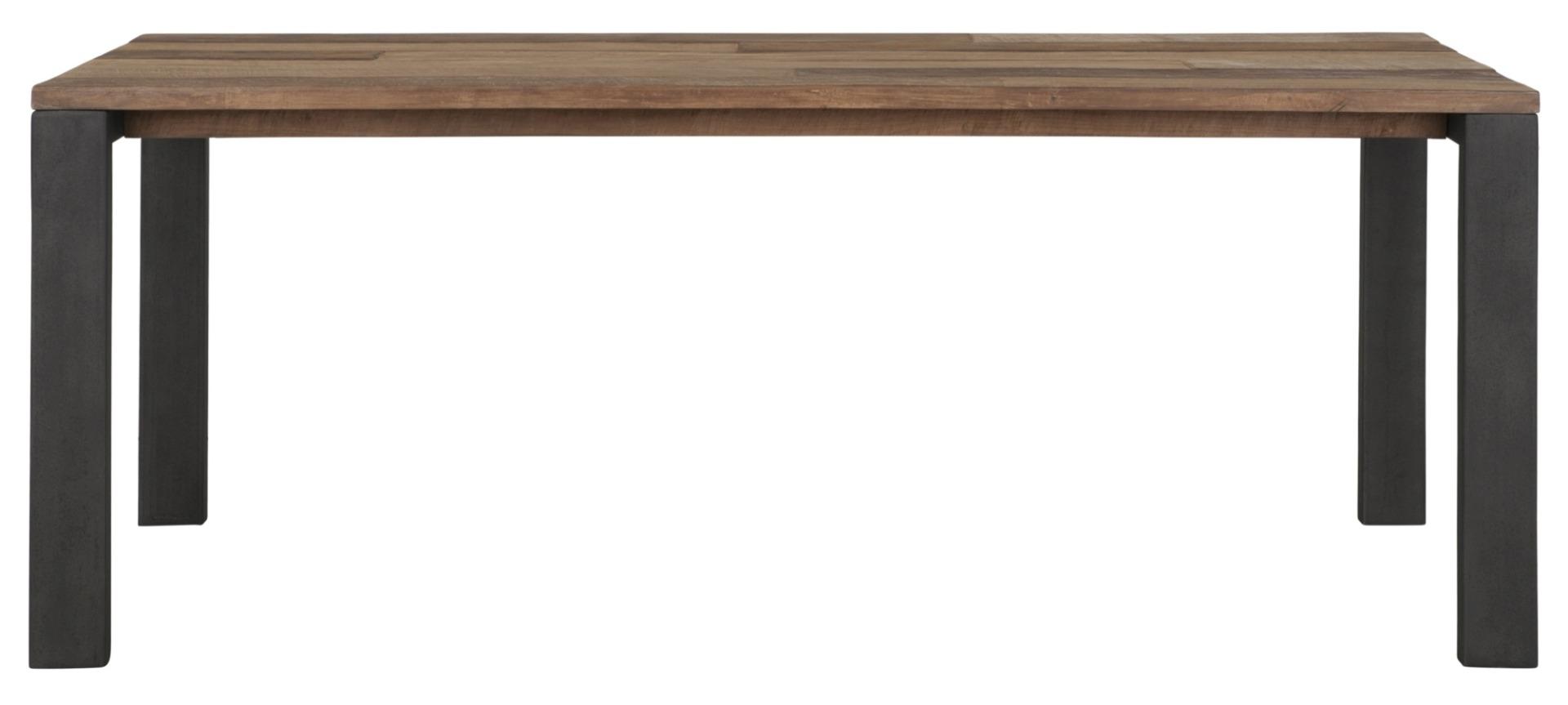 24Designs Timeless Eettafel Tracks - L150 X B90 X H78 Cm - Teakhout Gerecycled