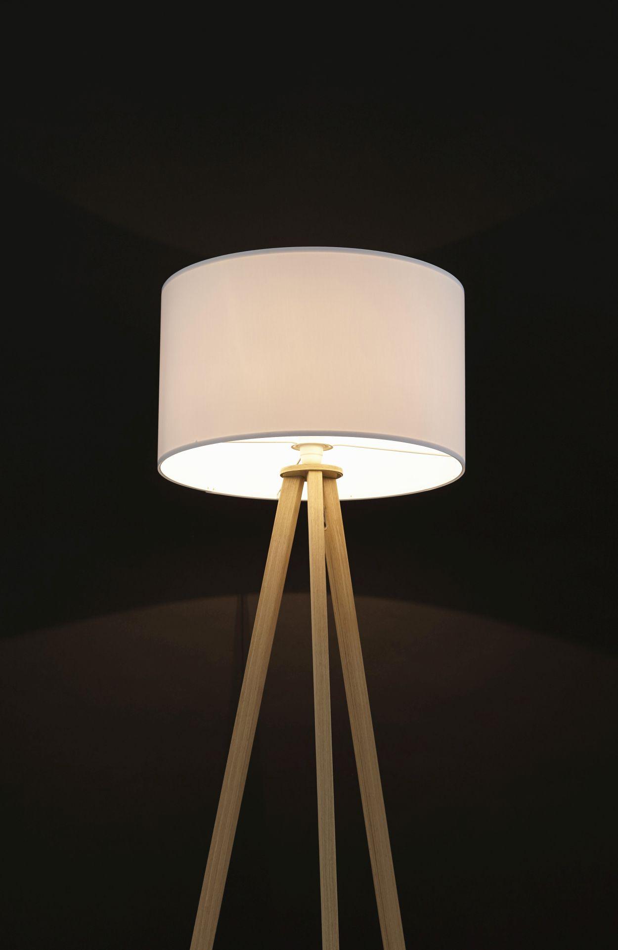 24Designs Vloerlamp Leya - H159 - Hout - Wit