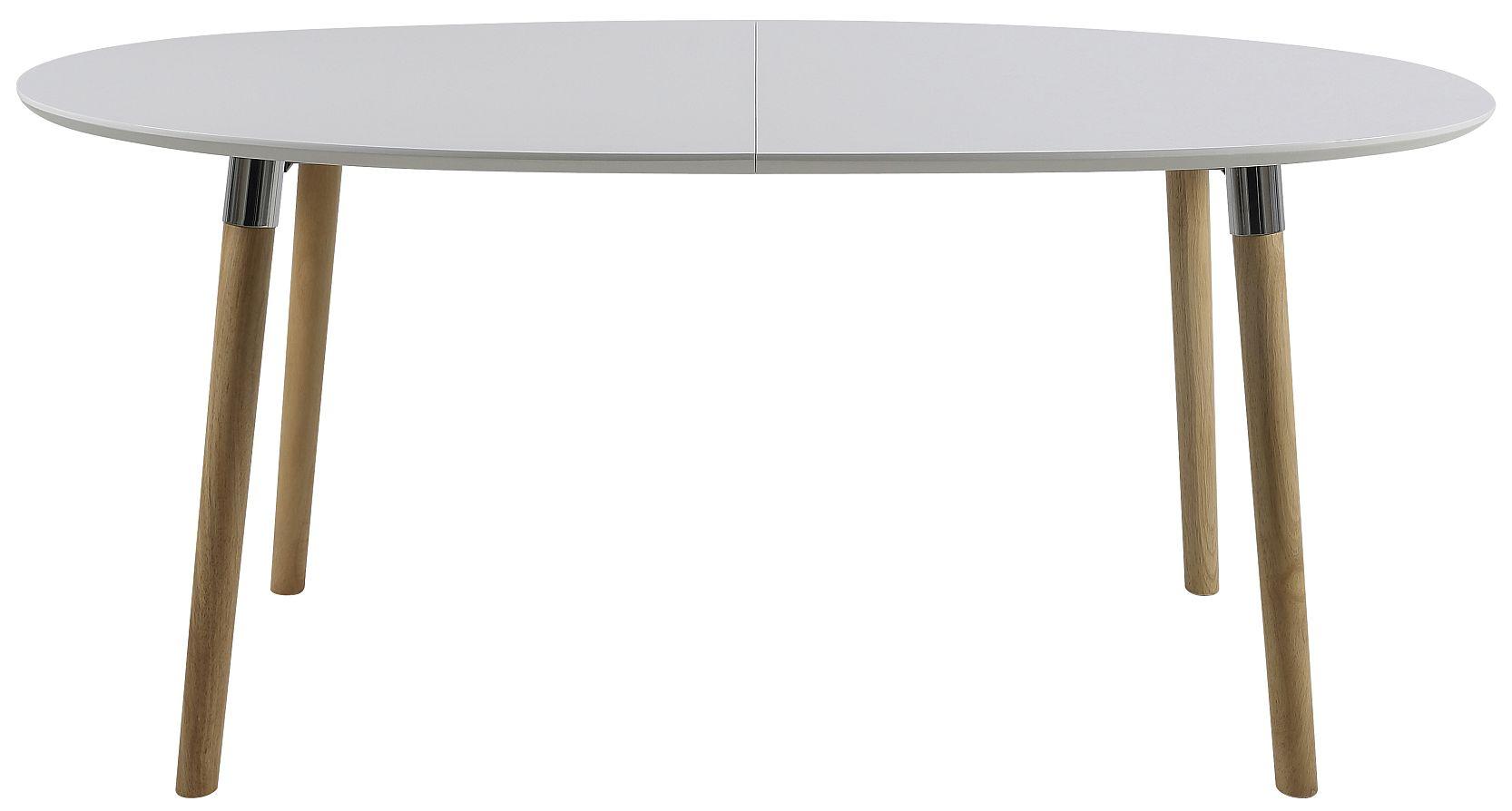 24Designs Uitschuifbare Tafel Jassmin - L170/270 Cm - Wit Tafelblad - Houten Poten