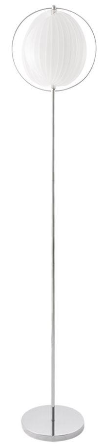 24Designs Vloerlamp Mira - Hoogte 160 Cm - Kunststof - Wit