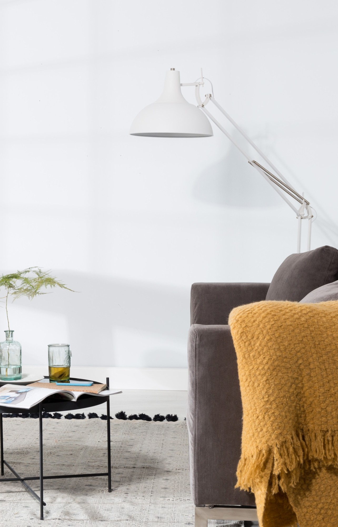24Designs Vloerlamp Office - H180 Cm - Mat Wit