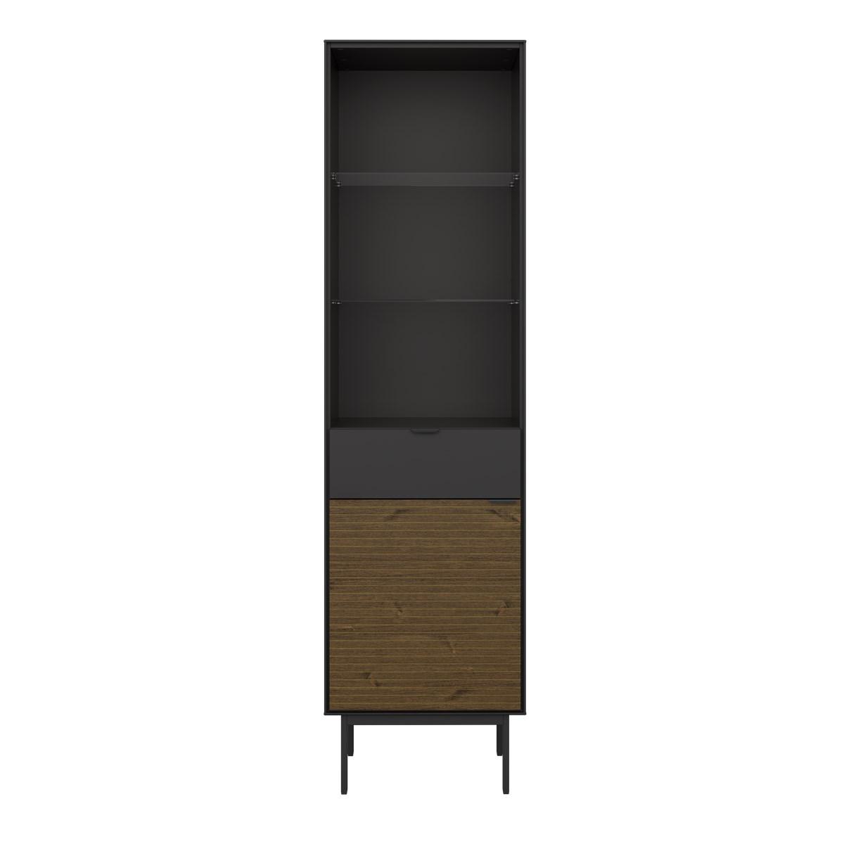 24Designs Soma Boekenkast B51 X H190 Cm? Zwart/Bruin