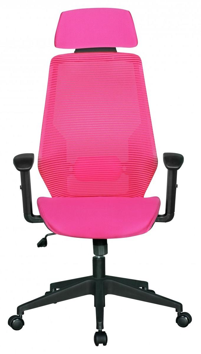 24Designs Tess Bureaustoel - Roze Stoffen Zitting - Kunststof Kruispoot