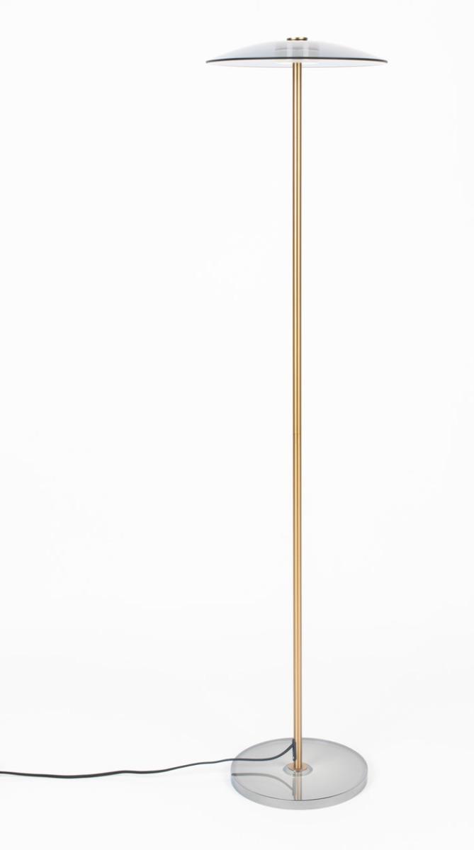 Zuiver Float Vloerlamp -Ø30 X H132 Cm - Glas/Brons