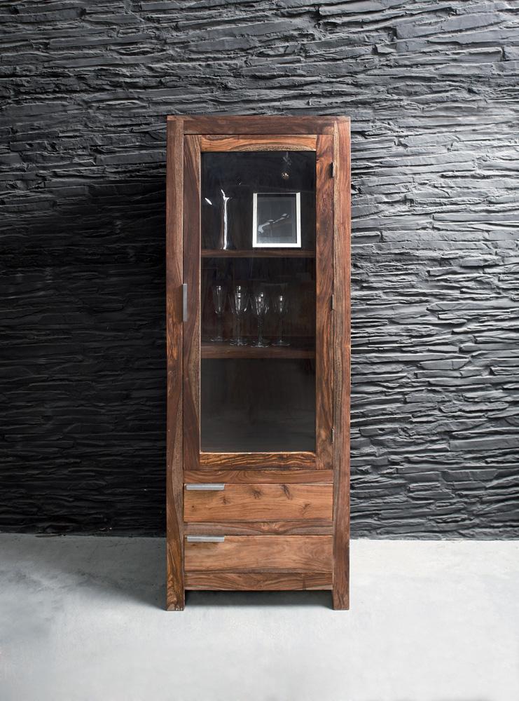 Kare Design Servieskast Authentico - H180 X B67 X D40 Cm - Massief Sheesham Hout