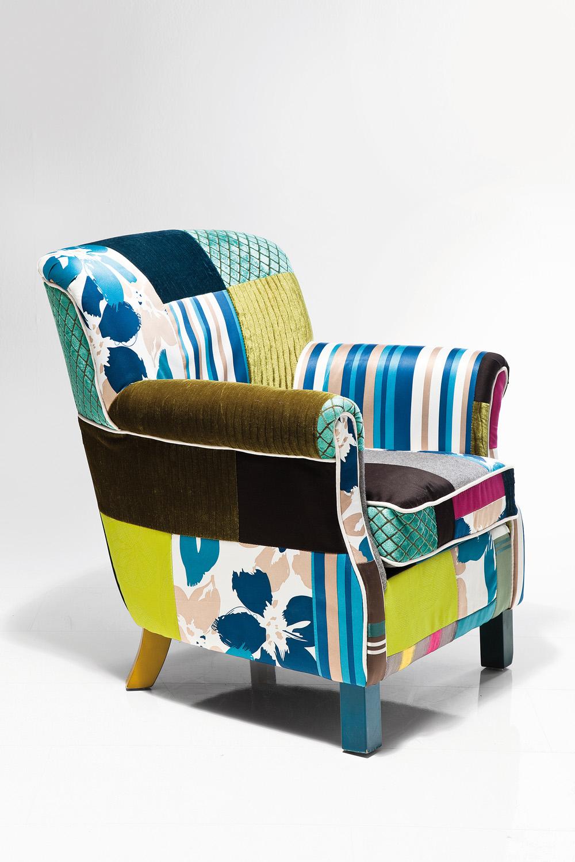 Kare Design Fauteuil Patchwork Stripes - Multikleur