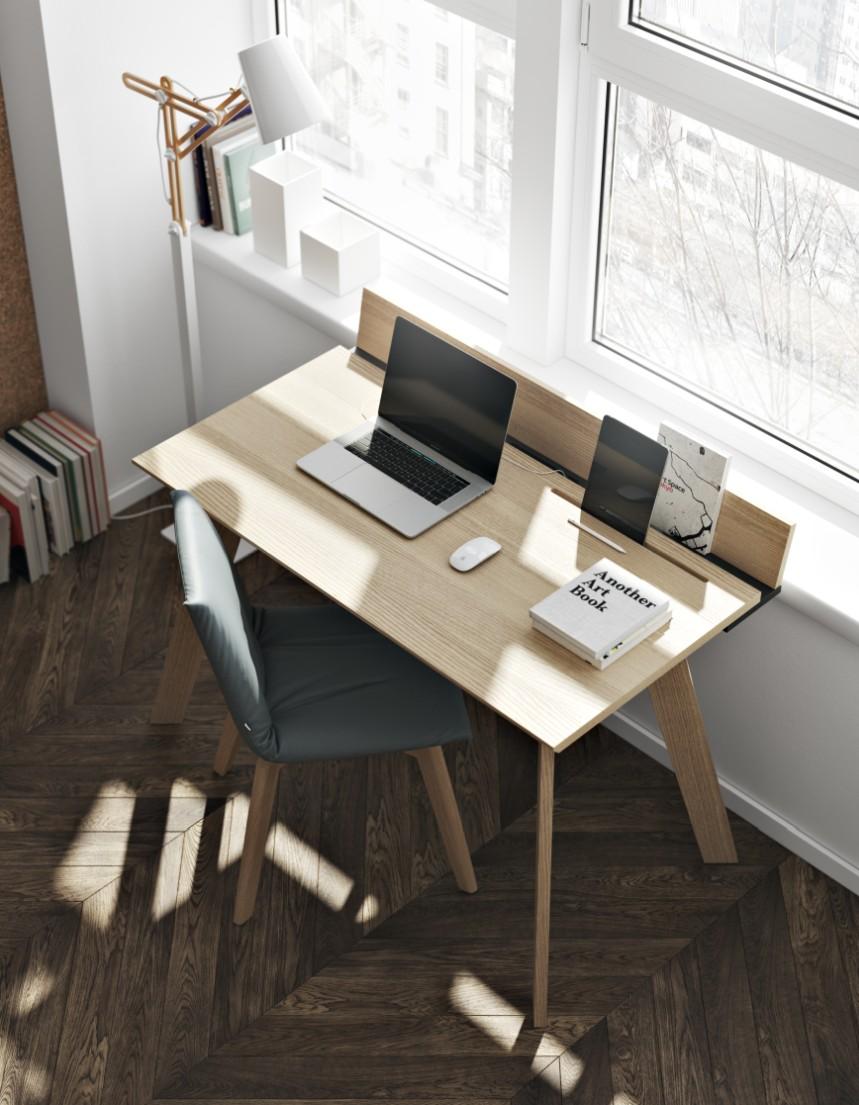 TemaHome Bureau Loft - 120x60x90 - Eiken/Mat Zwart