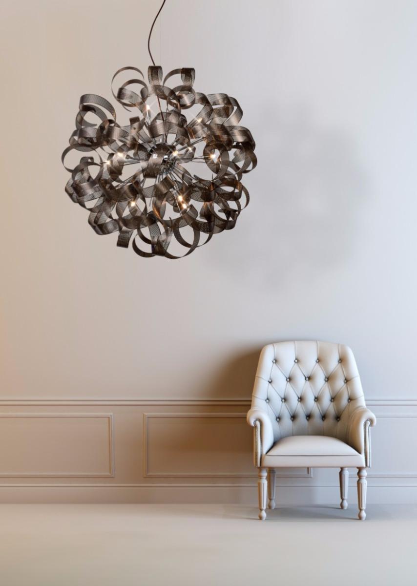 Lucide Verstelbare Hanglamp Atoma 12-LichtsØ80 Cm - Metaal Roest Bruin
