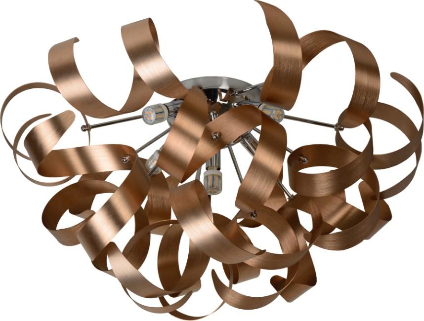 Lucide Plafondlamp Atoma-LED 5-Lichts Dimbaar - Koper