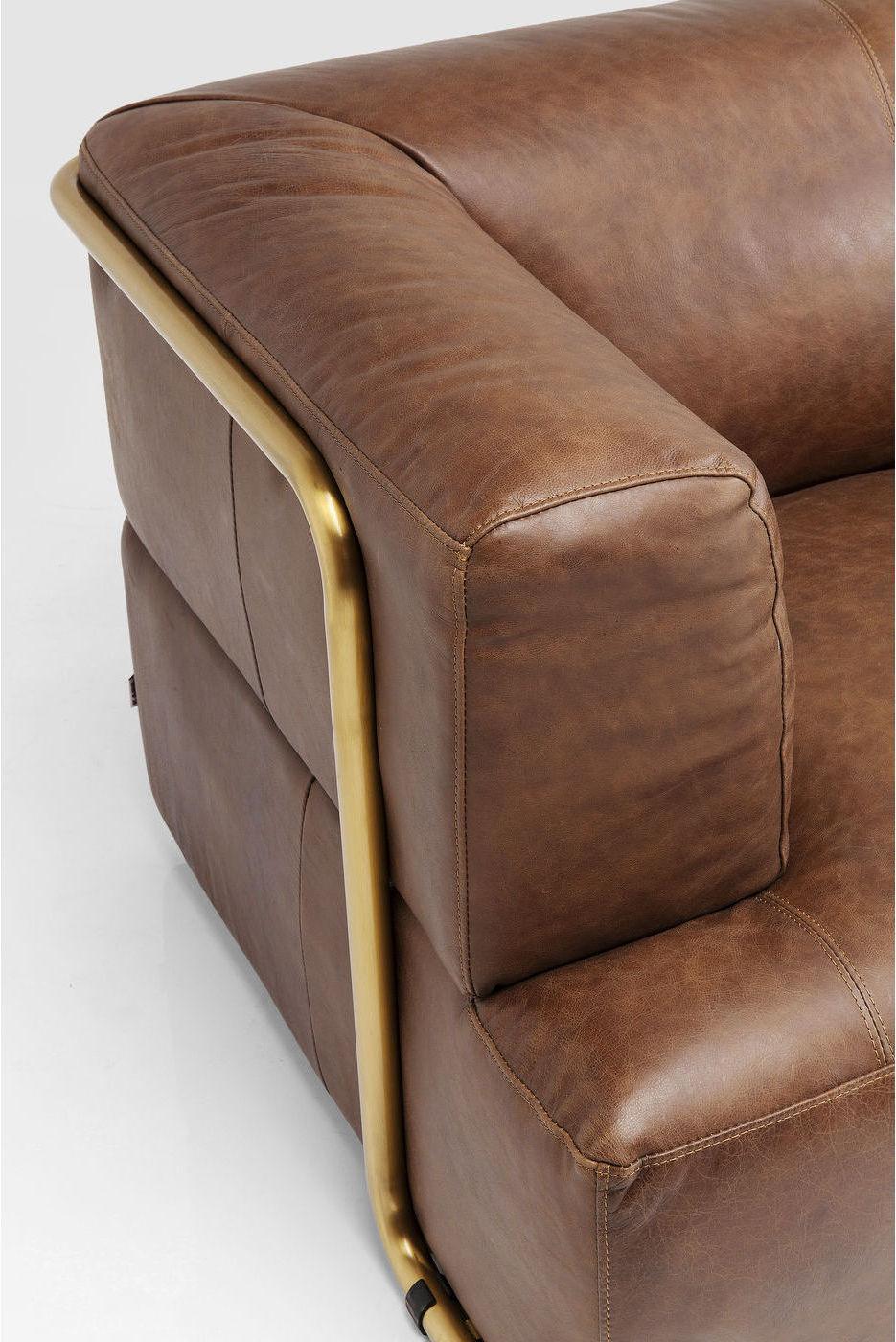 Kare Design Salto 3-Zits Bank - B210 Cm - Leer Bruin