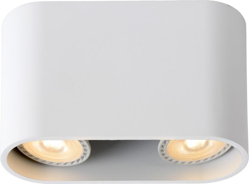 Lucide Plafondspot Bentoo-LED Ovaal GU10 2-Lichts Dimbaar - Wit