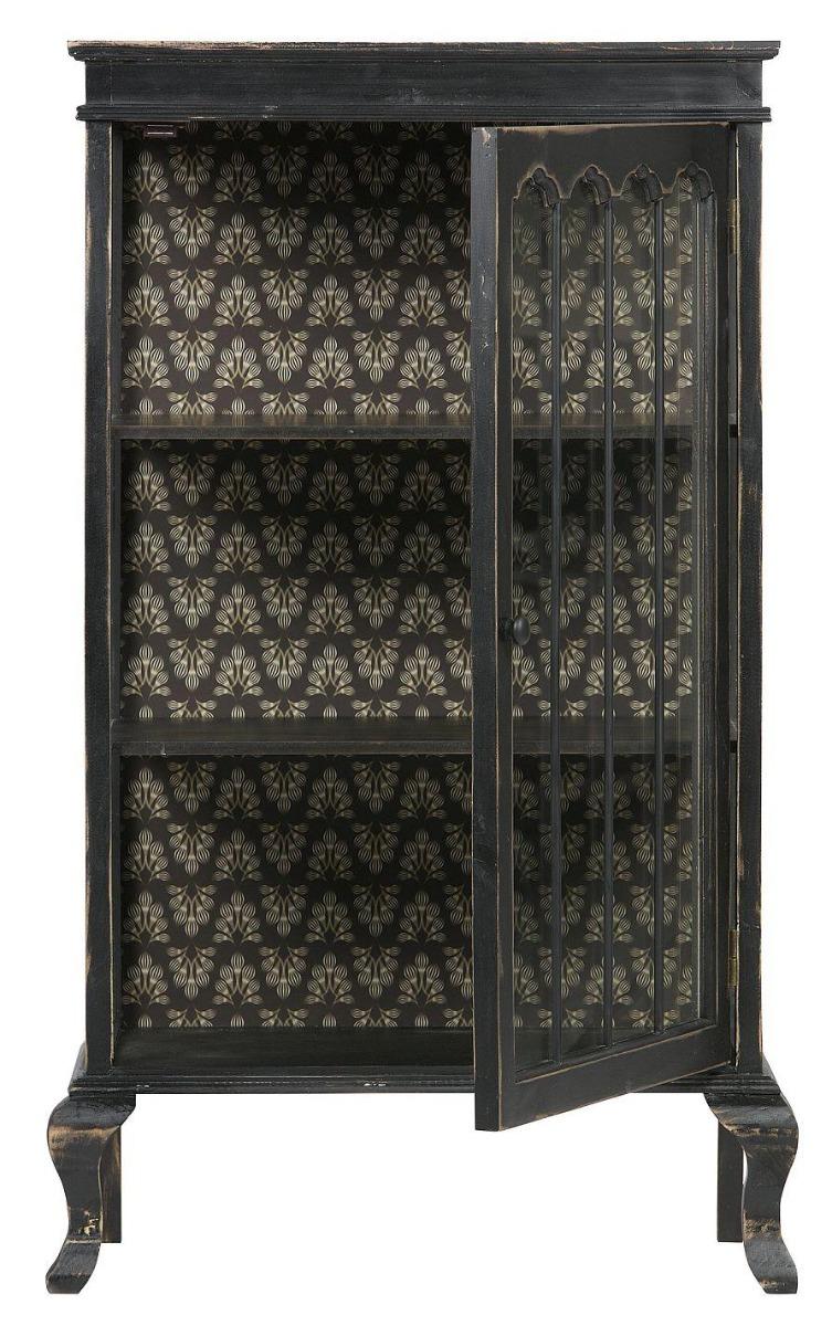 BePureHome Vitrinekast Odd - B67.5 X D39.5 X H114.5 Cm - Vintage Zwart Hout