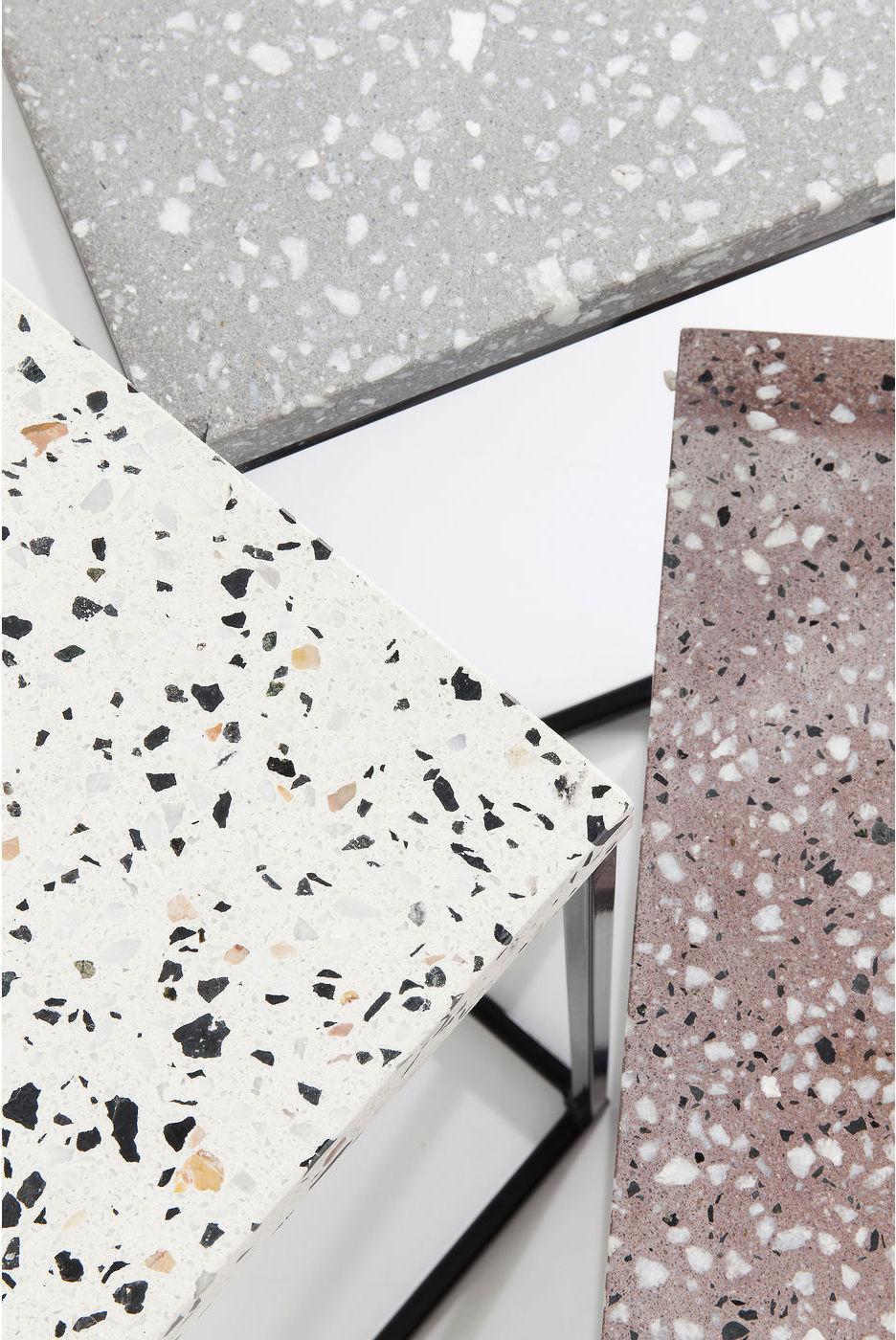 Kare Design - Terrazzo Bijzettafel Vierkant - Set Van 3 - Multikleur