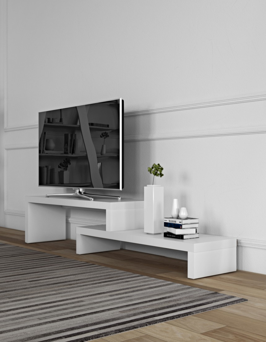 TemaHome TV Meubel Cliff 120 + 120 - Mat Wit