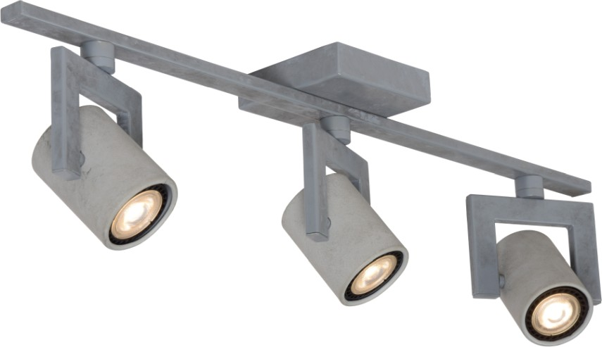 Lucide Plafondspot Conni-LED GU10 3-Lichts Dimbaar - Grijs