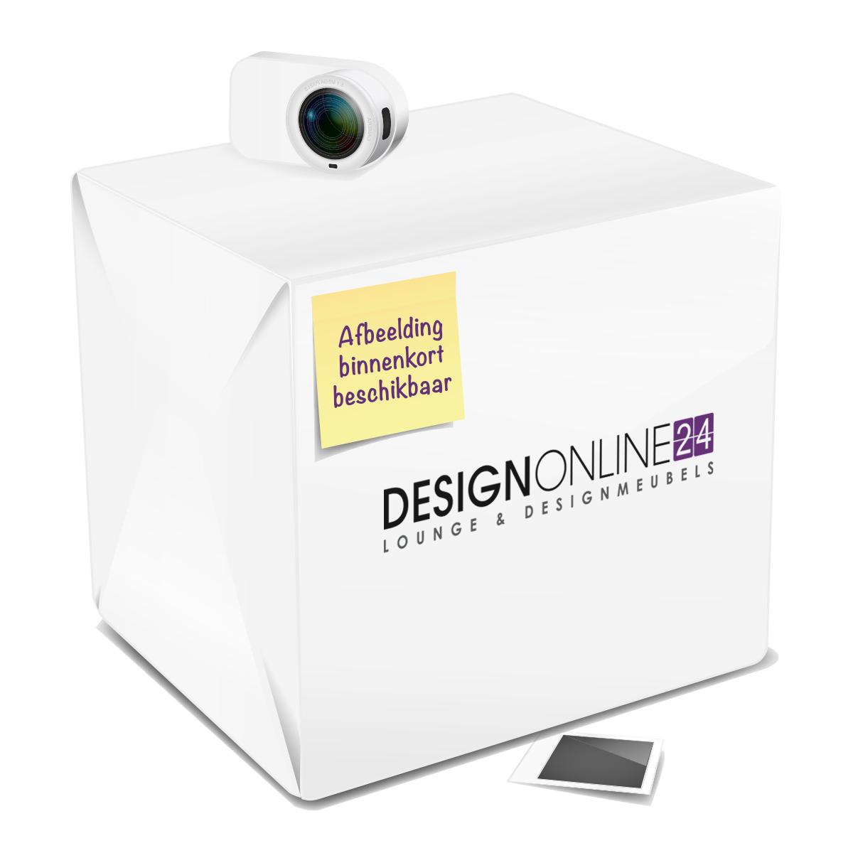 24Designs 24Designs Verstelbare Barkruk Reeve - Geborsteld Staal - Witte Kunstleren Zitting