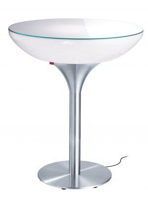 Moree Lounge Outdoor Bartafel - Ø84 x H105 cm - Wit