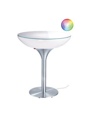 Moree Lounge Outdoor LED Pro Bartafel - Ø84 x H105 cm - Wit