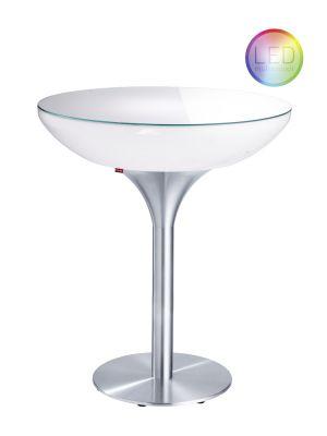 Moree Lounge Indoor LED Pro Bartafel met Accu - Ø84 x H105 cm