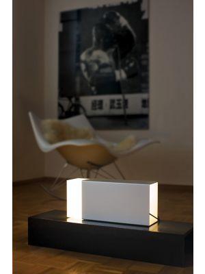 Moree Eraser Tafellamp - L38 x B13 x H20 cm - Zilver