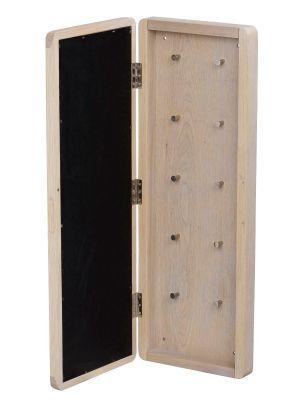 Rowico Methro Sleutelkastje - H70 x B25 x D6 cm - Whitewash Eiken