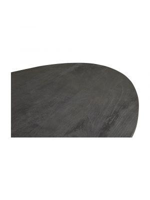24Designs Nevio Eettafel L200 x B100 x H78 - Tafelblad Zwart Mangohout - Zwart Metaal