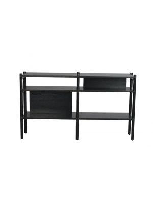 Rowico Holton Sidetable - B140 x D36 x H81 cm - Zwart Eiken