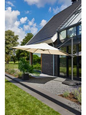 Hartman Shadowflex Parasol – Diameter 300 cm – Kantelbaar - Beige