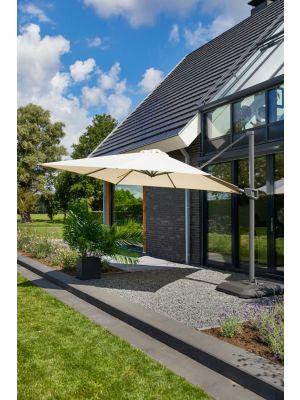 Hartman Shadowflex Deluxe Parasol – 350 x 350 cm – Kantelbaar – Beige