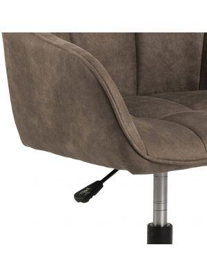 24Designs Milou Bureaustoel - Stof Lichtbruin - Zwart Metalen Onderstel met Wielen