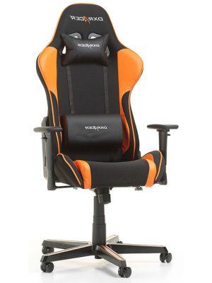 DXRacer Formula-series Game & Bureaustoel - Zwarte Stof - Oranje PU